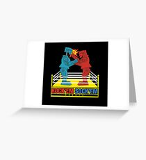 Rock'em Sock'em - 2D Original Punch Variant Greeting Card