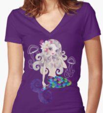 Amethyste Mermaid Women's Fitted V-Neck T-Shirt