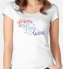 Grand Old Flag Women's Fitted Scoop T-Shirt