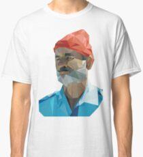 The Life Aquatic with Steve Zissou geometric low poly portrait - Bill Murray Classic T-Shirt