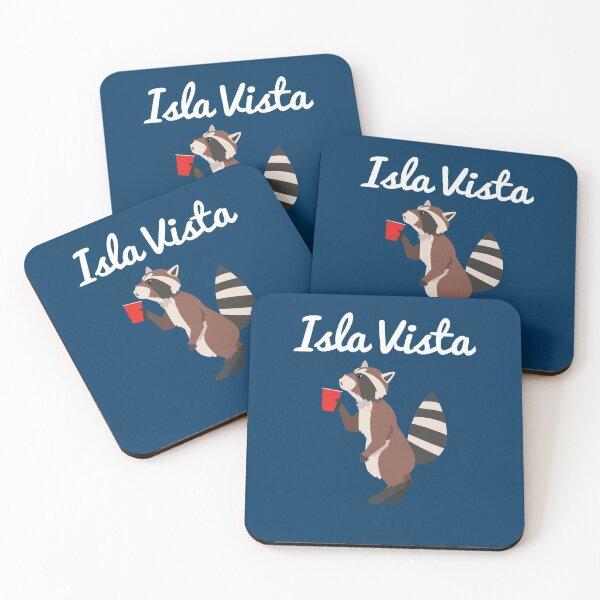 Isla Vista Raccoon Coasters (Set of 4)