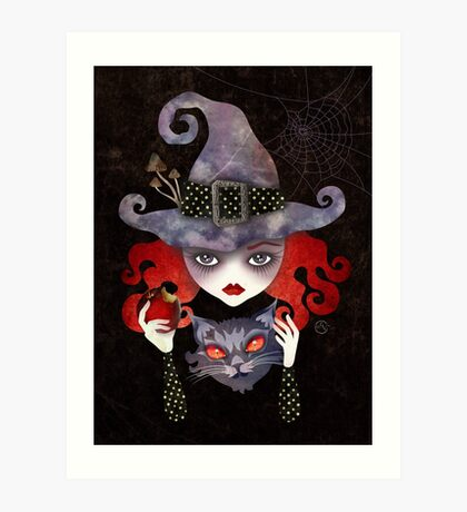 Maelba, the Red Witch Art Print