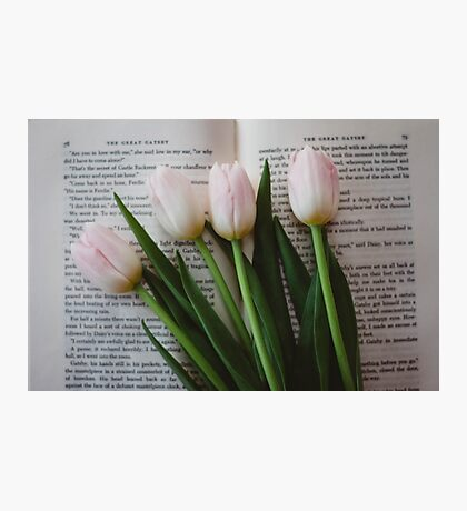Tulips and Literature Photographic Print