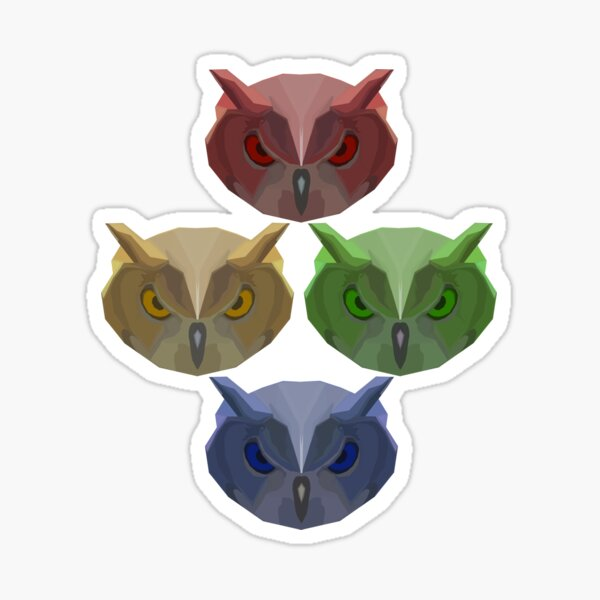 All of the Owls! Sticker