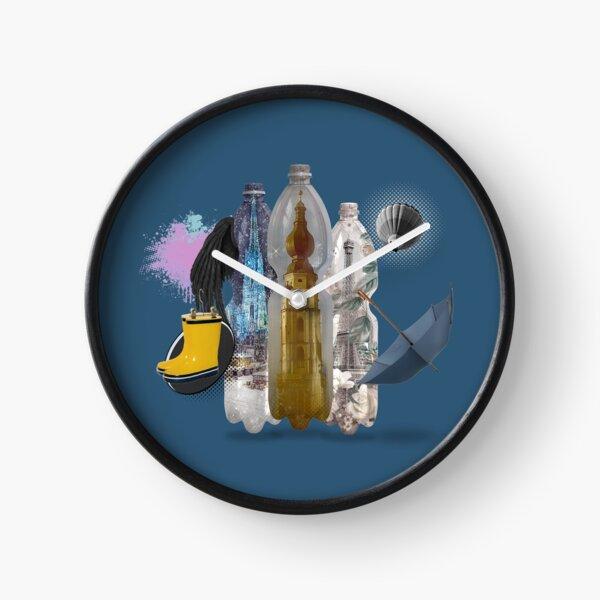 summer isolation Hermetic Lockdown in a PET bottle by Leo Haz Clock