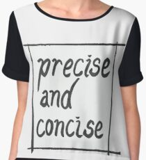Precise and concise Chiffon Top