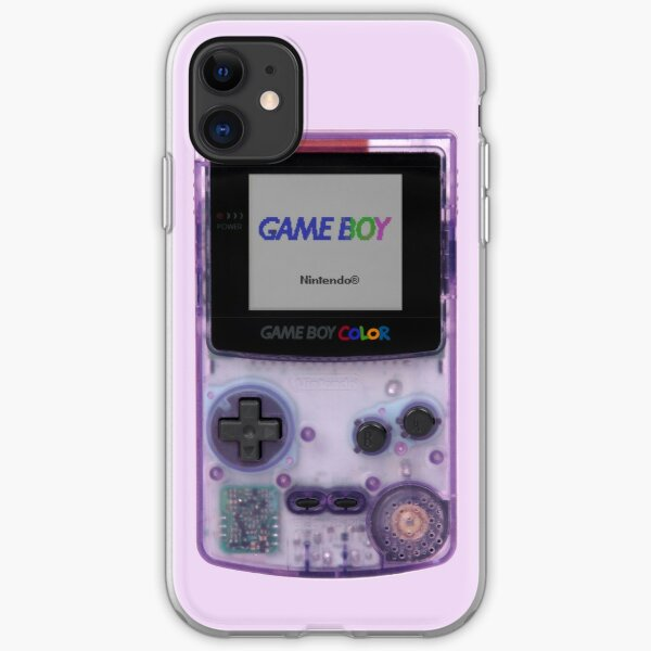Gameboy Color Translucent Purple iPhone Soft Case