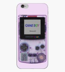 Gameboy Color Translucent Purple iPhone Case