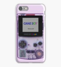 Gameboy Color Translucent Purple iPhone Case/Skin