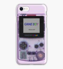 Gameboy Color Translucent Purple iPhone Case/Skin