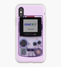 Gameboy Color Translucent Purple iPhone Case