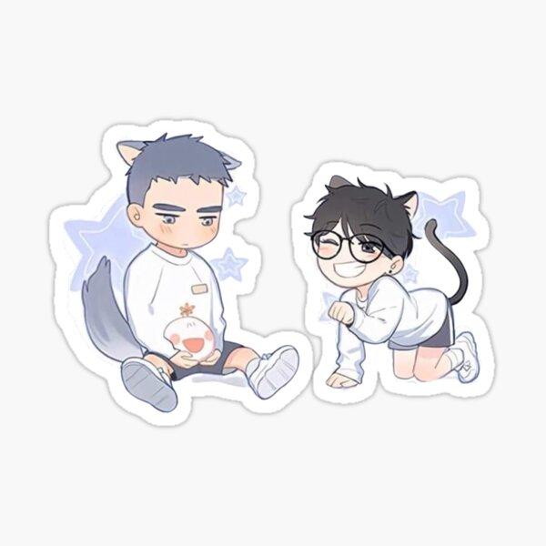 Aquí están Yuyang y LiHuan Pegatina