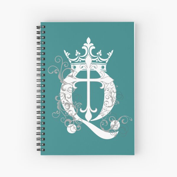 Cross Q Crown in White & Gray Spiral Notebook