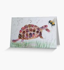 Bumble bee and Tortoise Greeting Card