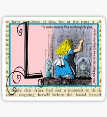 Alice in Wonderland and Through the Looking Glass Alphabet L Sticker
