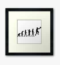 basketball evolution Framed Print