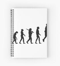basketball evolution Spiral Notebook