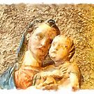 Pieve di Tho: statue of the Madonna with child by Giuseppe Cocco