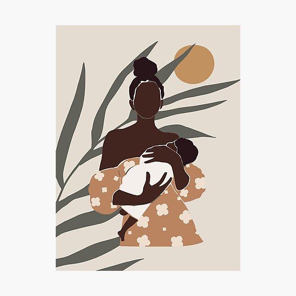 Black Mom and Child Photographic Print