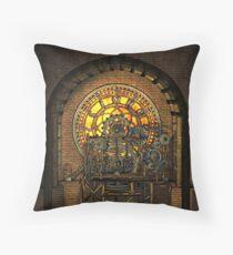 Inner Workings (Vintage Steampunk Clock) Throw Pillow