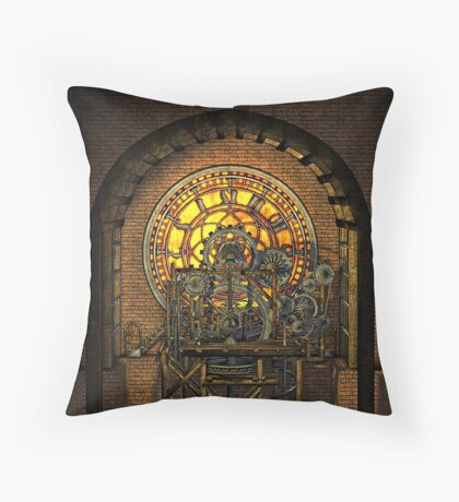 Inner Workings (Vintage Steampunk Clock) Throw Pillow