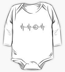 basketball heart beat Kids Clothes