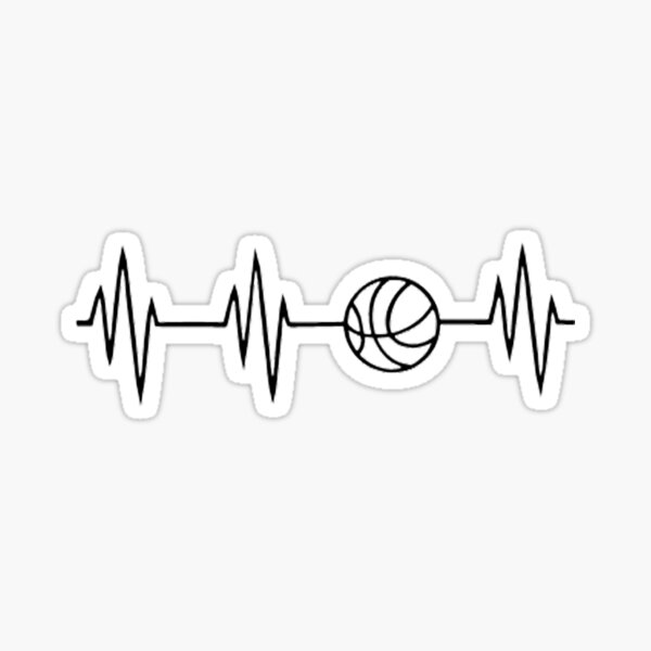 battement de coeur de basket-ball Sticker