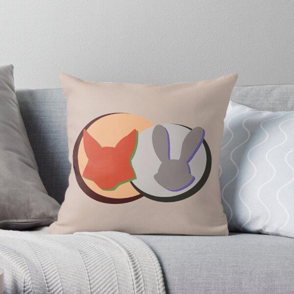 Nick and Judy Logo Design  Throw Pillow