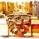 Pieve di Tho: font of the holy water by Giuseppe Cocco