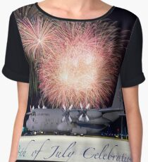 USAF Independence Day Poster Women's Chiffon Top
