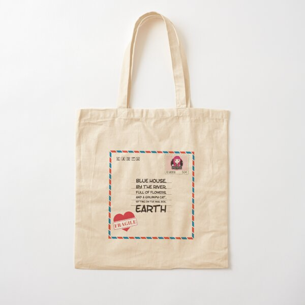 Mail To Earth   Retro Classic Cotton Tote Bag