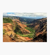 Waimea Canyon From The West Photographic Print