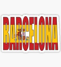 Pegatina Barcelona.