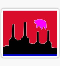 PINK FLOYD FLYING PIG OVER BATTERSEA Sticker