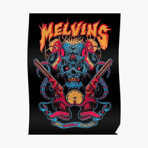octopus skull devil cowboy Poster