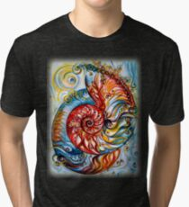 Nautilus Shell - Ornate Tri-blend T-Shirt