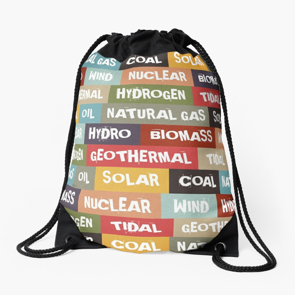 All Of The Above Drawstring Bag Front