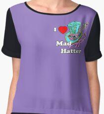 I Heart Mad Hatter Chiffon Top