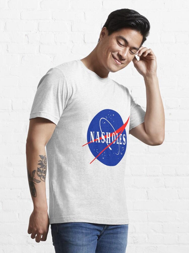 Alternate view of NASA NASHOLES Logo Essential T-Shirt