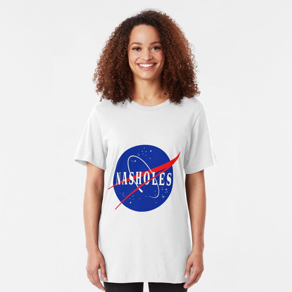 NASA NASHOLES Logo Slim Fit T-Shirt