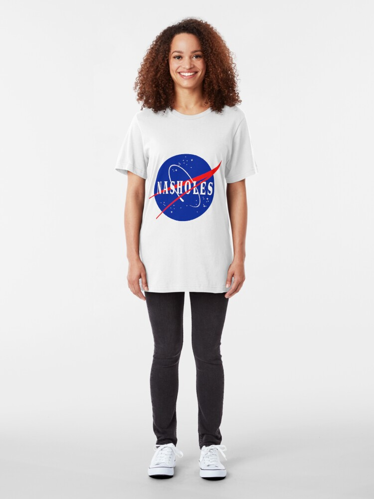 Alternate view of NASA NASHOLES Logo Slim Fit T-Shirt