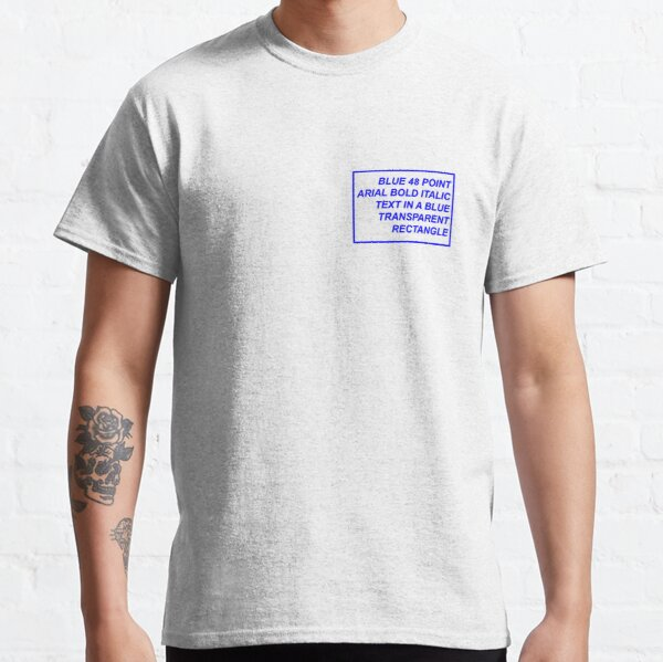 Funny Aesthetic Text Classic T-Shirt