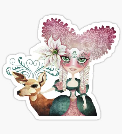 Noelle's Winter Magic Sticker
