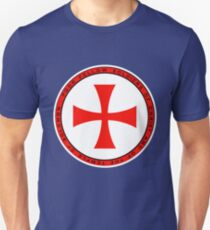 The Knights Templar - Double Cross Symbol Unisex T-Shirt