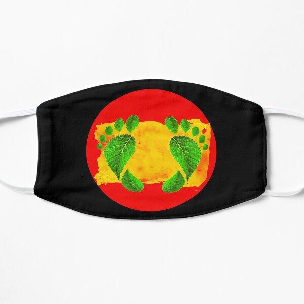 Aboriginal australische Flagge färbt Blatt Fußabdrücke Native Bushmen Freedom Flache Maske