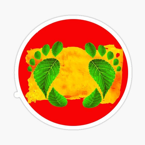 Aboriginal australische Flagge färbt Blatt Fußabdrücke Native Bushmen Freedom Glänzender Sticker