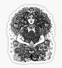 Divine Mother Gea Tree / BW Sticker