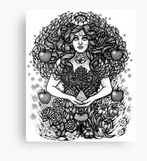 Divine Mother Gea Tree / BW Canvas Print