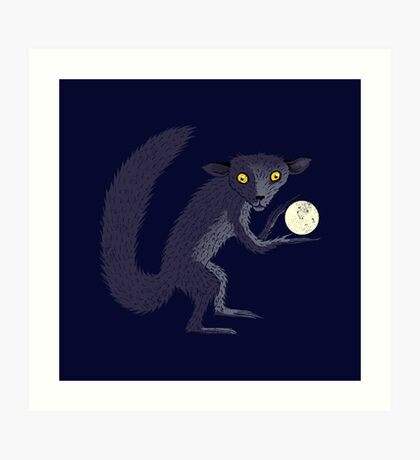 Aye Aye Steals the Moon Art Print