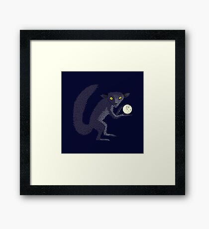 Aye Aye Steals the Moon Framed Print